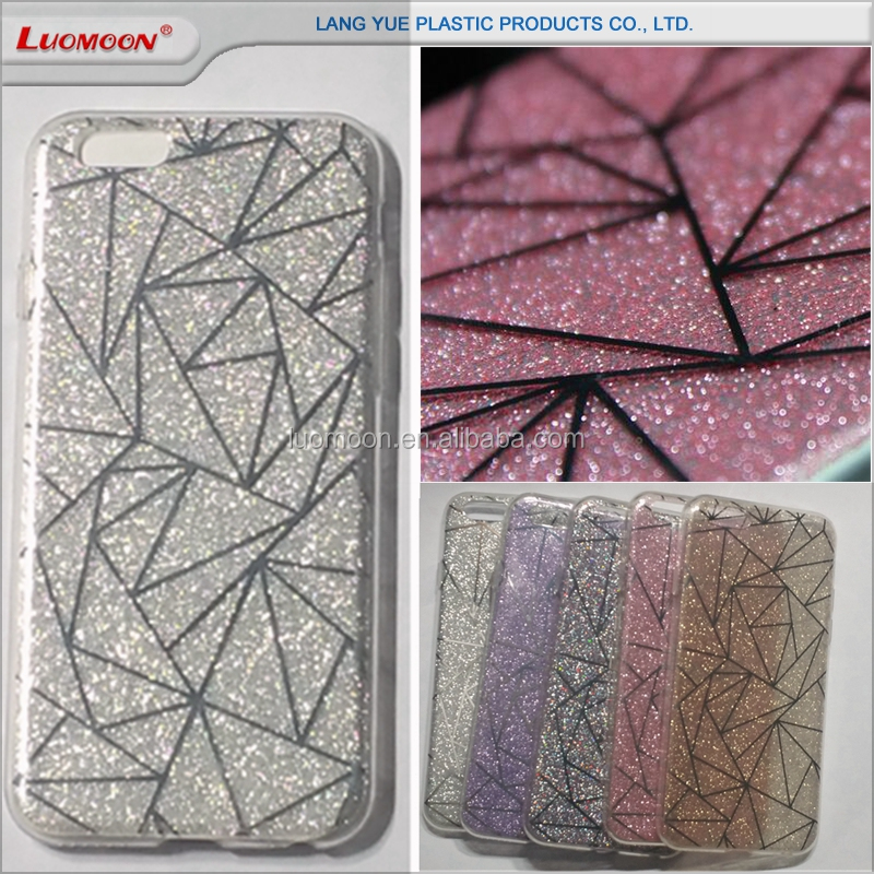 double IMD printing tpu+pc two in one glitter phone case back cover for lenovo vibe s1 k3 note s60 A529 A788T A850+ A6000/A6010