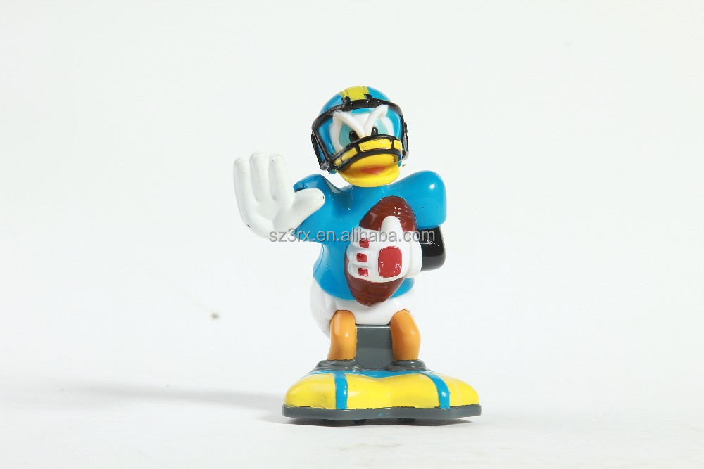 custom shenzhen rugby player duck wind-up toy,custom oem cartoon duck wind-up toy manufacturer,plastic duck rugby wind-up toy