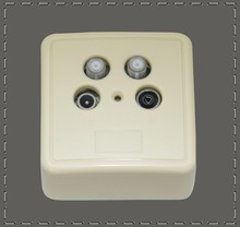 Hot Sale White Color TV socket TV wall Socket Radio and TV Socket