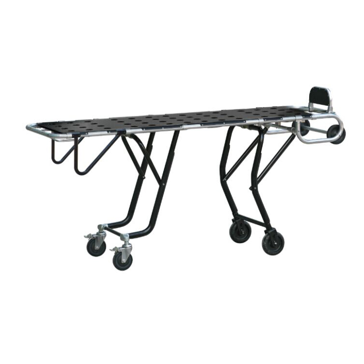 hospital Funeral aluminum one man mortuary cot for sale with cover