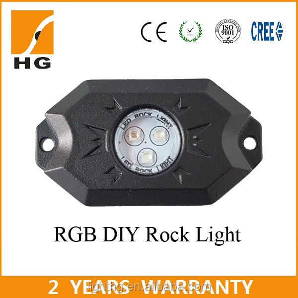 RGB Rock Lights App Control Led Rock Light for Jeep