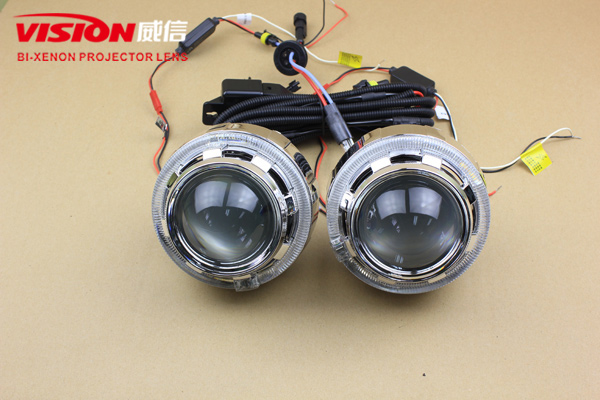 China Factory Super Quality 3.0 Inch HID Bi-xenon Projector Lens Light with LED Angel Eyes for Headlight