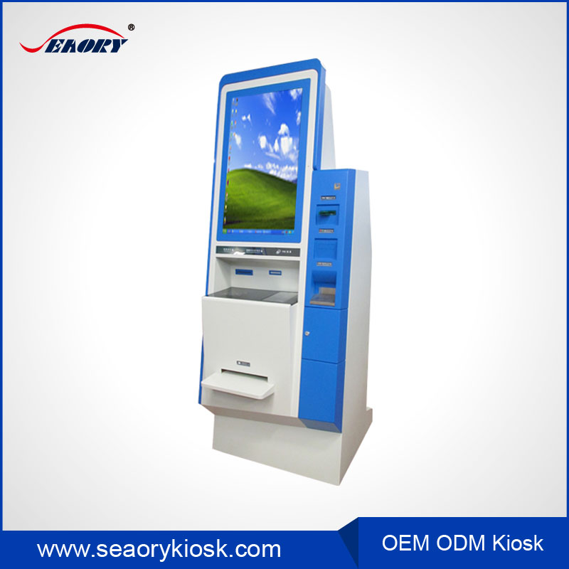 Custom Ticket Vending E-Payment Kiosk with Thermal Printer and Finger Print Reader