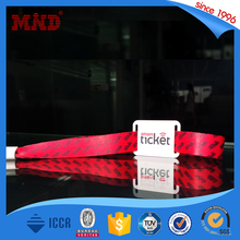 MDWW69 Customized festival plastic chip RFID woven wristband