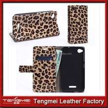 Flip Support leopard print Wallet pu Leather Cover Case bumper case for htc desire eye