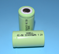 UL CE ROHS Approved Rechargeable 1.2V 4000mAh SC NI MH Battery For Miner's Lamp