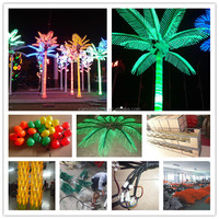 Hot sell long life span waterproof outdoor decoration led coconut tree lighting