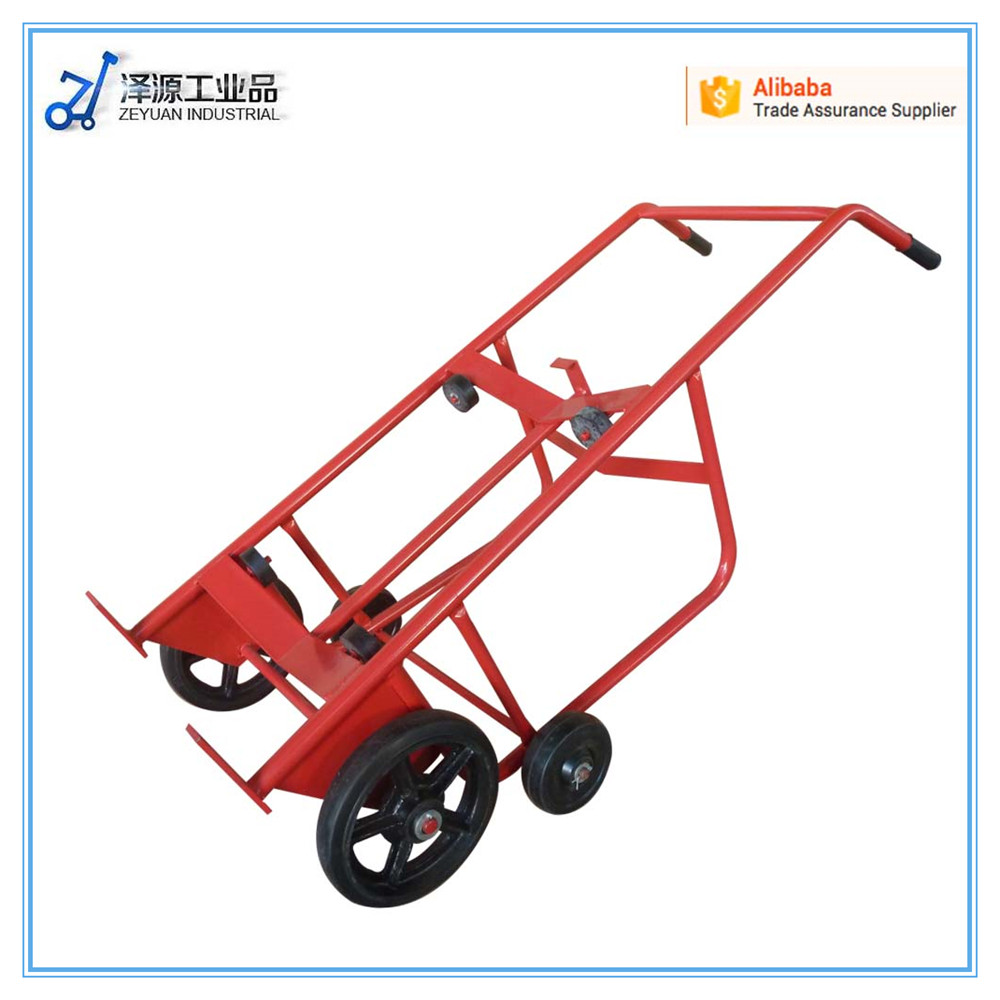 roll container structure adjustable height heavy duty oil drum hand cart