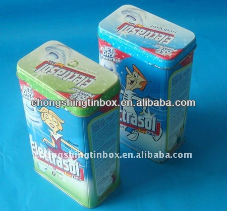 Metal washing powder cans