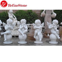 World famous small angel marble carving sculpture garden marble