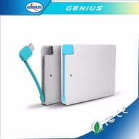 Brand New Portable Charger Power Bank 2500mah With Credit Card Size Design