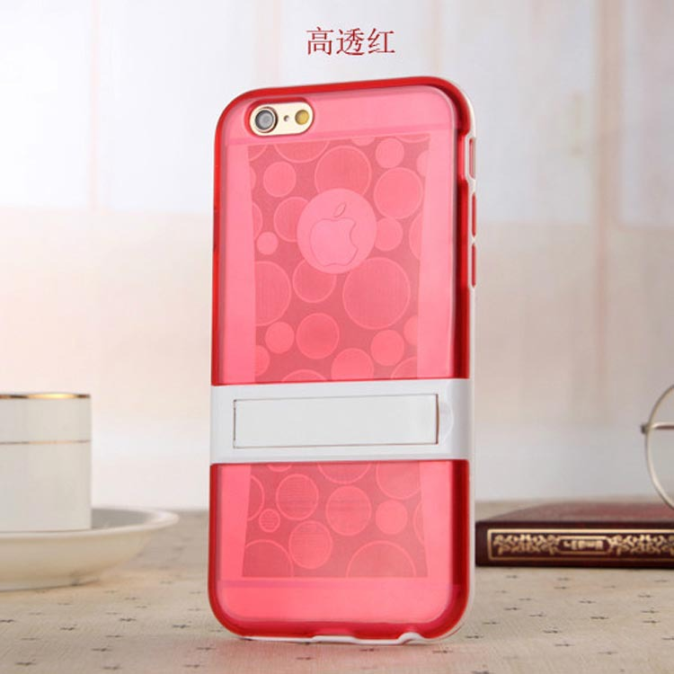 New arrival stand tpu clear cover case for apple iphone6,for iphone 6 stand cover case