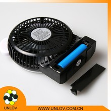 Factory price hot selling portable mini usb fan rechargable fan with light
