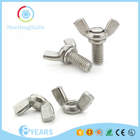 Made In China Harga Stainless Steel 304 Price Butterfly Bolt And Nut/Butterfly Bolt With Wing Nut Screw