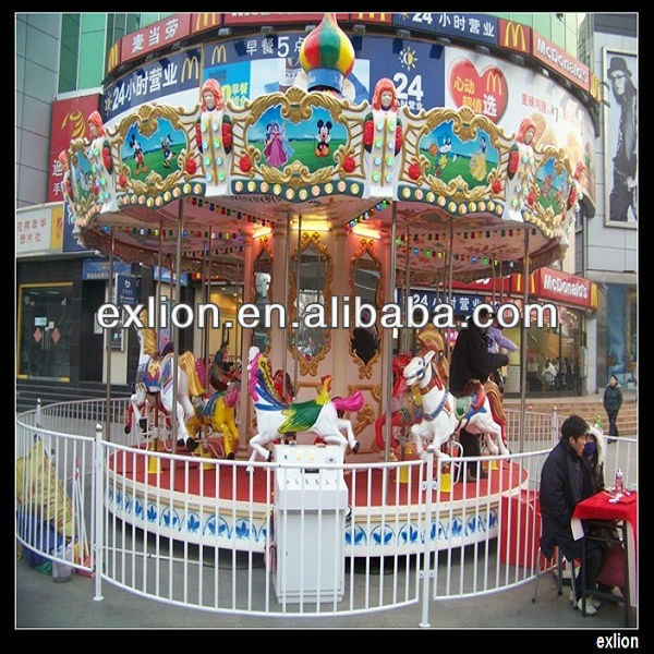 2013 best selling amusement park wooden toy carousel music box