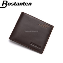 Fashion factory price mens real leather wallets purse