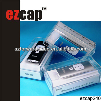 mobile phone accessories Shenzhen,smart mobilephone Calls recorder,3.5mm interface-ezcap240