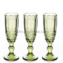 classic wedding color champagne Wine Glass flute glasses Drinking Goblets