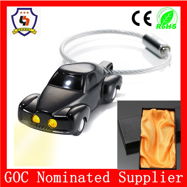 LED race car light keychain with gift box& Free samples& BV certification (HH-key chain-331)