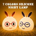 2018 Amazon Hot sale LED silicone night light mini rabbit silicone reading lamp wholesale