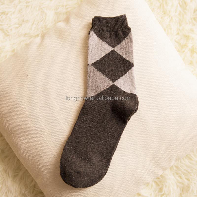 Knitting Pattern For Diabetic Socks : Lanle Mens Diamond Wholesale Custom Wool Knitting Dress ...