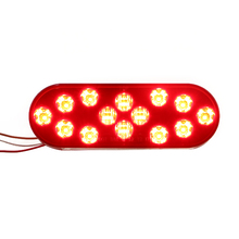 "2018 Top 6"" Oval LED Strip Tail Brake Stop Light"
