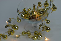 new decoration shinning golden ball with star led battery light