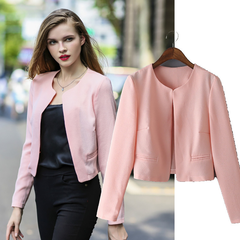 Z91058A 2016 Wholesale casual new fashion women fall jacket and blazer