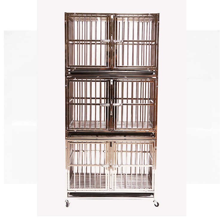 Indoor Multi tier cage heavy duty folding square tube dog crate