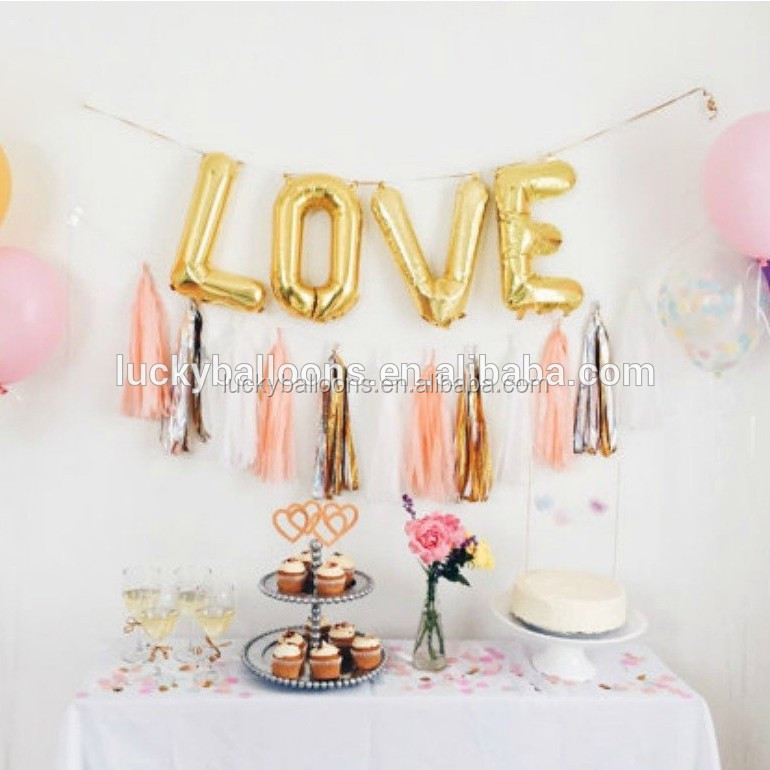 New design slim letter foil baloons with great price