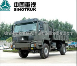 High Performance New Condition SINOTRUK HOWO 4X4 Military Truck (All-Wheel Drive) Cargo Truck