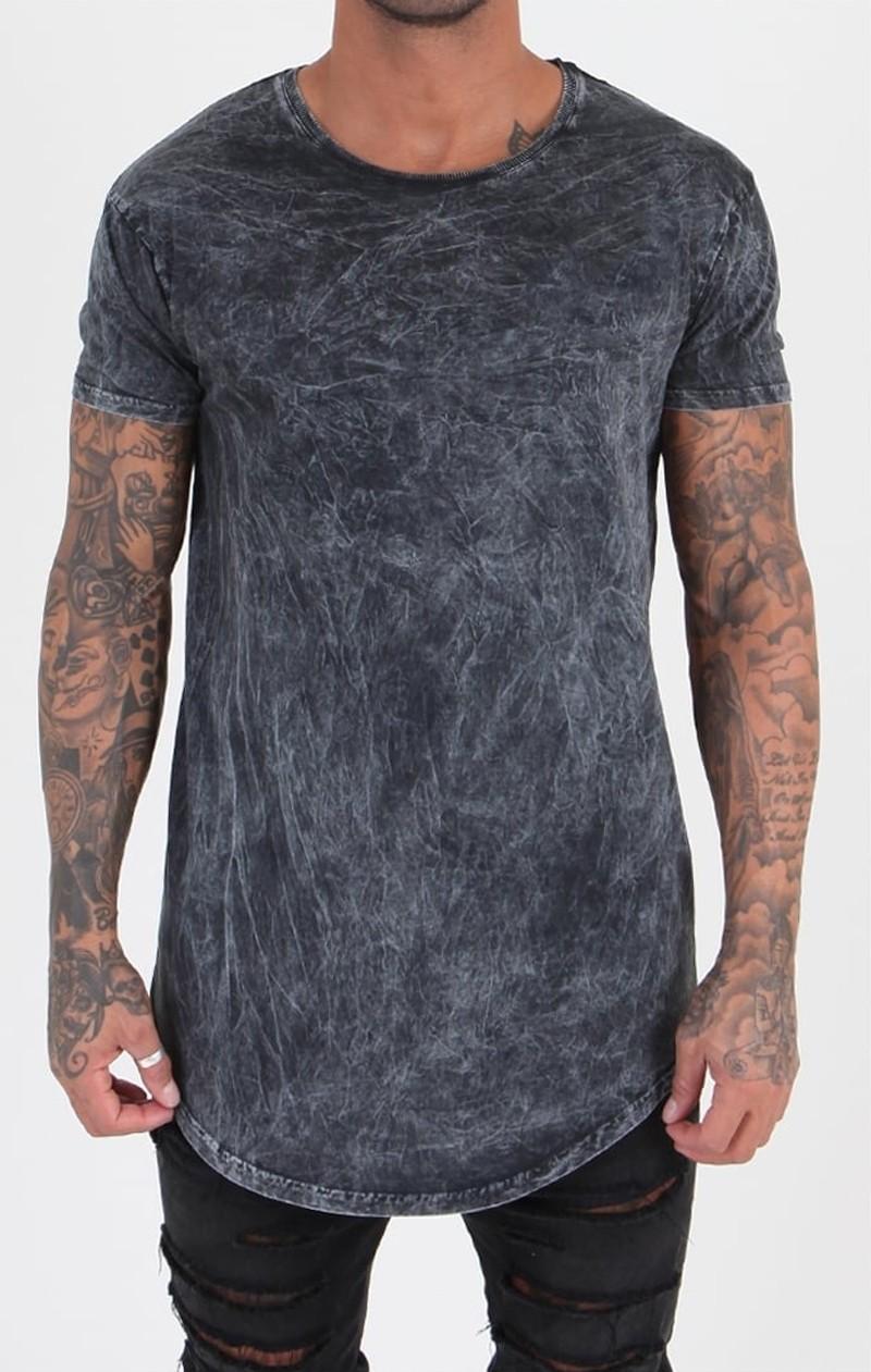 Long tail t shirt acid wash cotton t shirt buy long tail for Custom acid wash t shirts