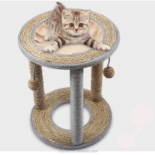 high quality durable smart hanging cat bed wooden scratch board craft tree for summer time