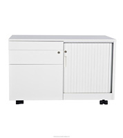 Steel Filing Cabinet Caddy With ABS Tambour Door Cabinet Malaysia