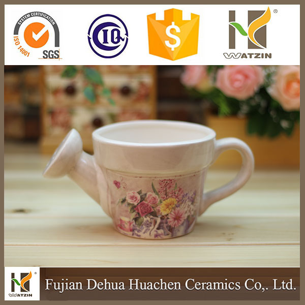 new design Chinese decorative Ceramic Watering Can