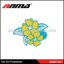 Flower funny car coffee scented air freshener wholesale professional factory