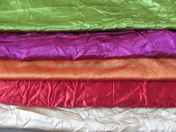 Polyester crushed continuous lining curtain fabric for new styles of curtains