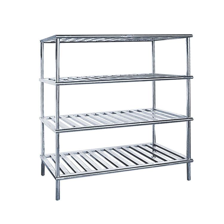 Warehouse Metal Storage Iron Shelving Stainless Steel Plate Shelf Free Standing Display Rack ...