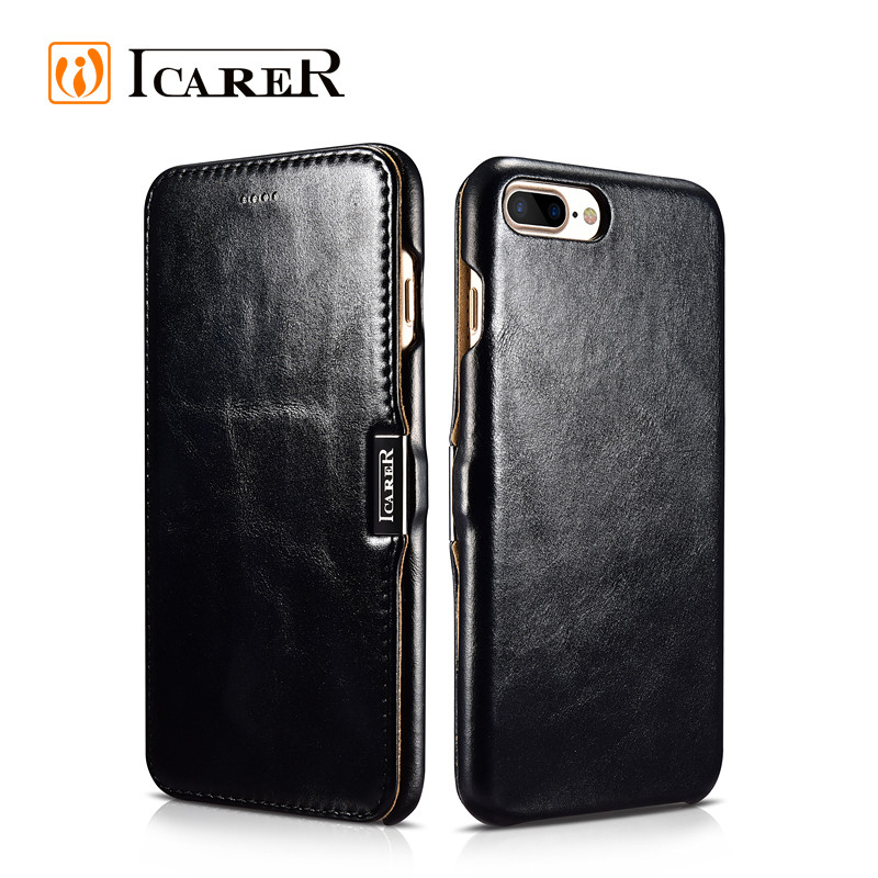 for iphone 7 cover leather Black