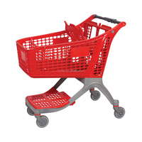 Customized Plastic Supermarket Shopping Trolley Cart