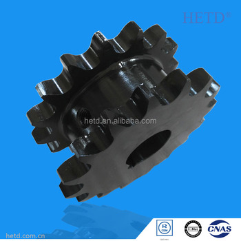 HETD Duplex Roller Chain Sprocket black finished DIN Standard