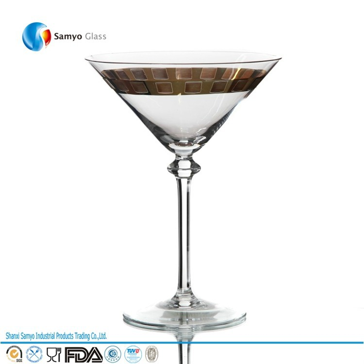Manufacturers Custom Handmade Glass wine /champagne/martini/margarita/cocktail flute glass cup