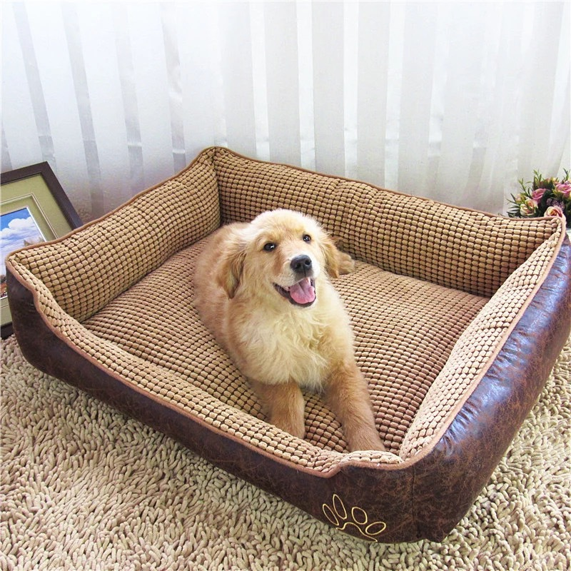 Newest Design Hot Selling wholesale luxury leather dog bed