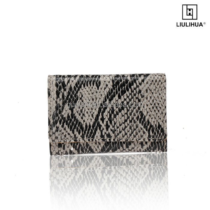 Hot Sale High Quality Leather snake texture Key Holder Custom small key case