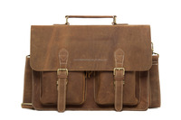 Wholesale Genuine Cow Leather Briefcase Laptop Bag 0344