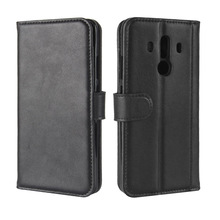 High Quality Genuine Leather Card Holder Wallet Flip Leather Case For Huawei Mate 10 Pro