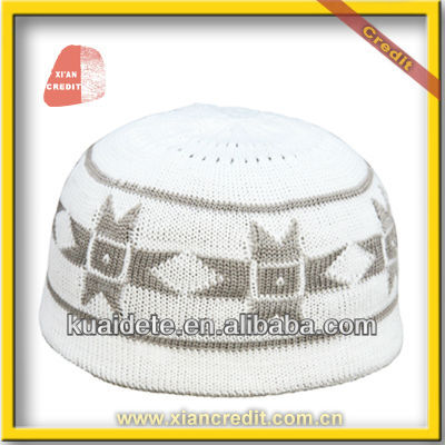 100% Cotton High Quality Knitted Crochet Muslim Prayer Caps, Islamic Prayer Caps Muslim Hat KDTCP006 wholesale