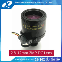 2016 new product megapixel 1/2.7 inch f1.6 2.8-12mm cs mount adjustable zoom lens