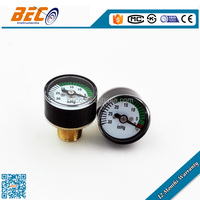High quality 25mm mini negative manometer with bourdon tube