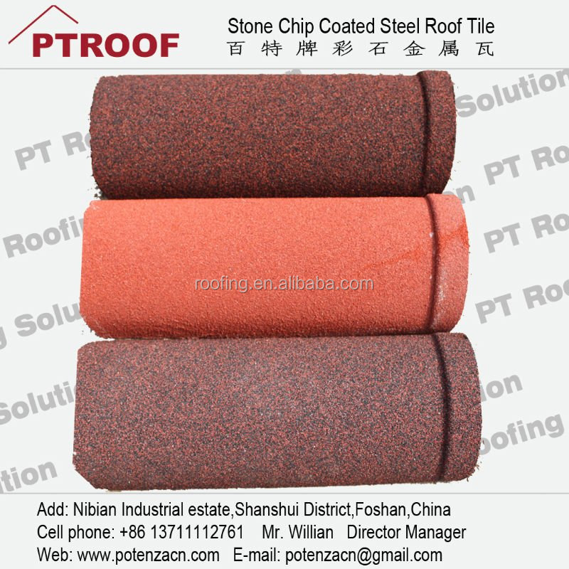 Wind-proof and shock-proof terracotta metal roof tile